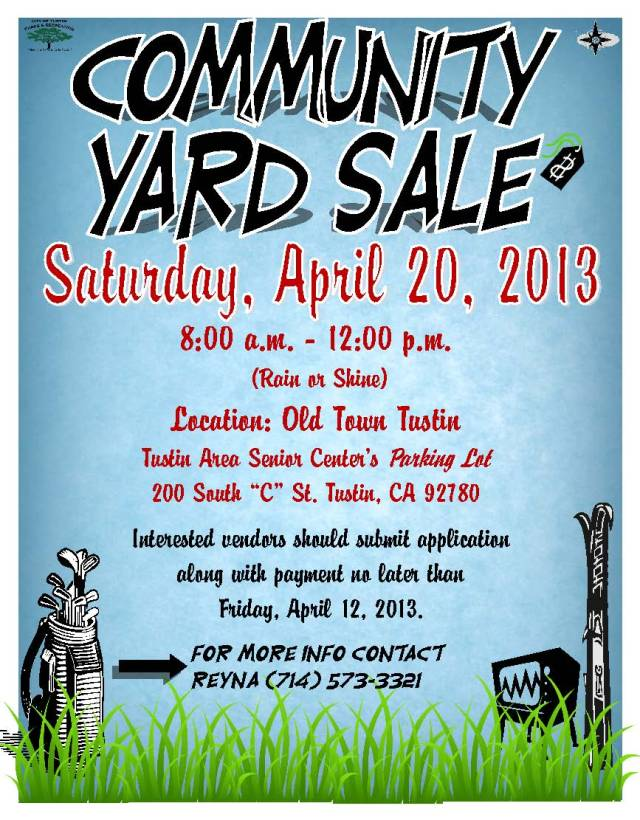 Tustin Community Yard Sale Flyer